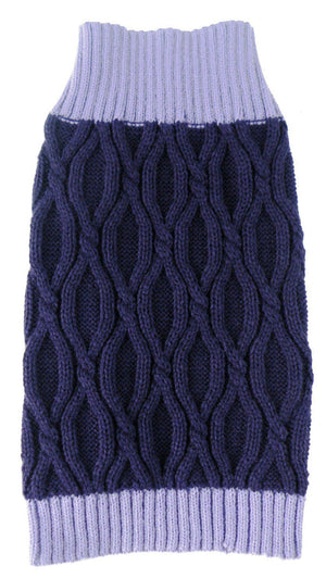 Pet Life ® Oval Weaved Heavy Knitted Fashion Designer Dog Sweater