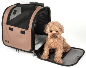 Pet Life ® 'Pawdon Me '  Wheeled Airline Approved Travel Collapsible Pet Dog Carrier