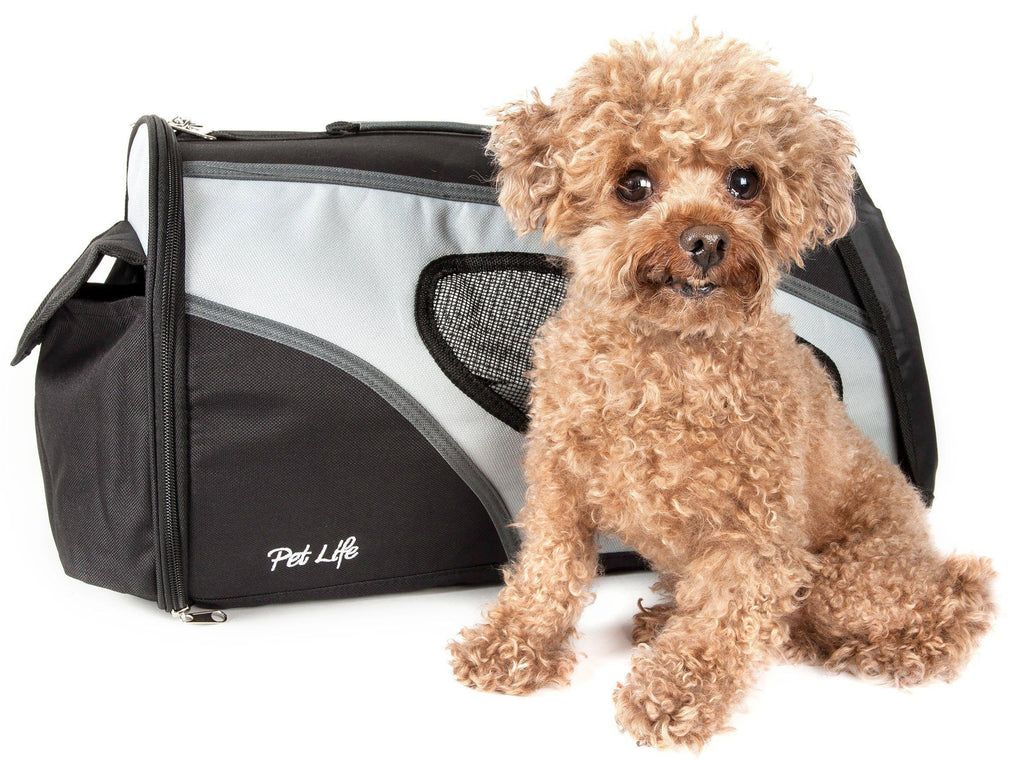 Pet Life ® 'Phenom-Air' Airline Approved Collapsible Fashion Designer Pet Dog Carrier B...