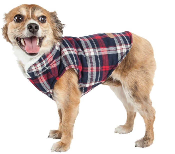 Pet Life ® 'Puddler' Classical Insulated Fashion Plaid Dog Coat