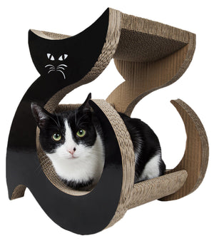 Pet Life ® 'Purresque' Modern Fashion Designer Premium Quality Kitty Cat Scratcher Loun...
