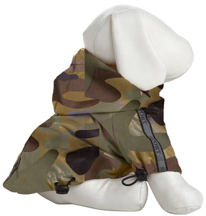 Pet Life ® 'Reflecta-Sport' Multi-Adjustable Reflective Weather-Proof Dog Raincoat w/ Removable Hood