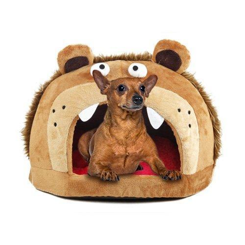 Pet Life ® 'Roar Bear' Snuggle Plush Polar Fleece Fashion Designer Pet Dog Bed House Lo...
