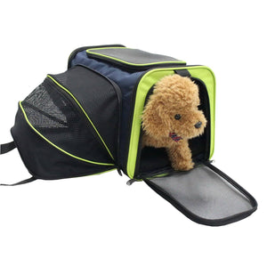 Pet Life ® 'Roomeo' Airline Approved Dual Expandable and Folding Collapsible Fashion Tr...