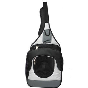 Pet Life ® Single Strap Over-The-Shoulder Hands Free Fashion Backpack Pet Dog Carrier Default Title