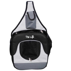 Pet Life ® Single Strap Over-The-Shoulder Hands Free Fashion Backpack Pet Dog Carrier