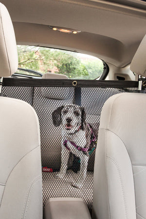 Pet Life ® Squared 'Easy-Hook' Backseat Mesh Folding Dog Cat Child Car Seat Carseat Saf...