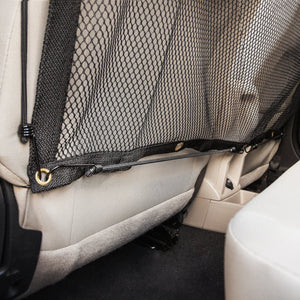 Pet Life ® Squared 'Easy-Hook' Backseat Mesh Folding Dog Cat Child Car Seat Carseat Safety Barrier