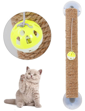 Pet Life ® 'Stick N' Claw' Sisal Rope and Toy Suction Cup Stick Shaped Cat Scratcher