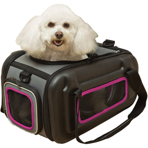 Pet Life ® 'Stow-Away' Airline Approved Ergonomically designed Collapsible Lightweight Travel Pet Dog Carrier