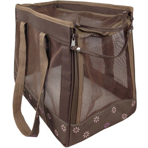 Pet Life ® 'Surround View' Posh Collapsible Fashion Designer Pet Dog Carrier
