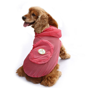 Pet Life ® 'Thunder Paw' Ultimate Waterproof Collapsible Multi-Adjustable Travel Dog Raincoat