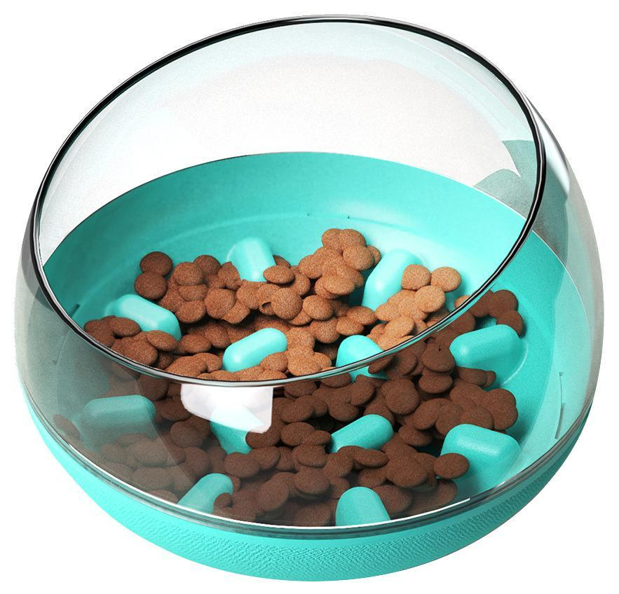 Pet Life ® 'Tumbowl' Slow Feeding Pet Bowl Blue