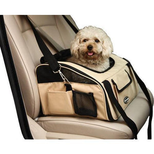 Pet Life ® 'Ultra-Lock' Collapsible Safety Travel Wire Folding Pet Dog Carseat Car Seat Carrier crate