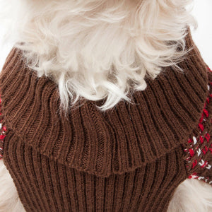 Pet Life ® Vintage Symphony Static Fashion Knitted Designer Dog Sweater