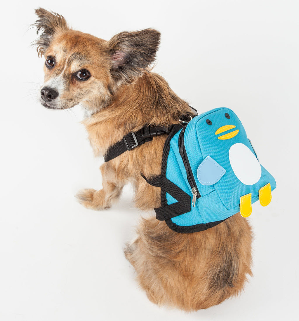 Pet Life ® 'Waggler Hobbler' Large-Pocketed Animated Fashion Dog Harness Backpack