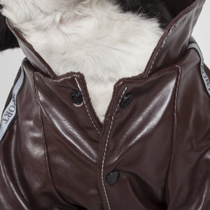 Pet Life ® 'Wuff-Rider' Fashion Suede Stitched Dog Jacket