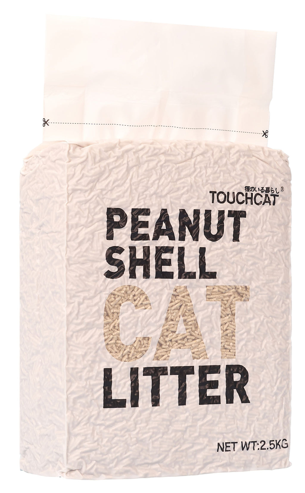 Touchcat ® High-Clumping Eco-Friendly Peanut Shell Kitty Cat Litter Default Title