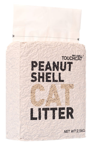 Touchcat ® High-Clumping Eco-Friendly Peanut Shell Kitty Cat Litter