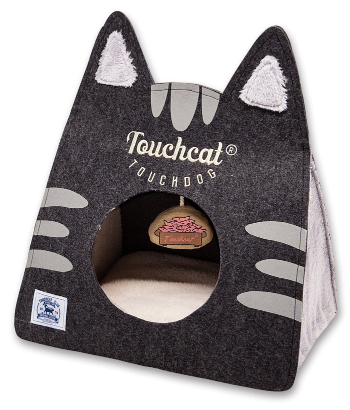 Touchcat ® 'Kitty Ears' Travel On-The-Go Folding Designer Fashion Pet Cat Bed House w/ ...
