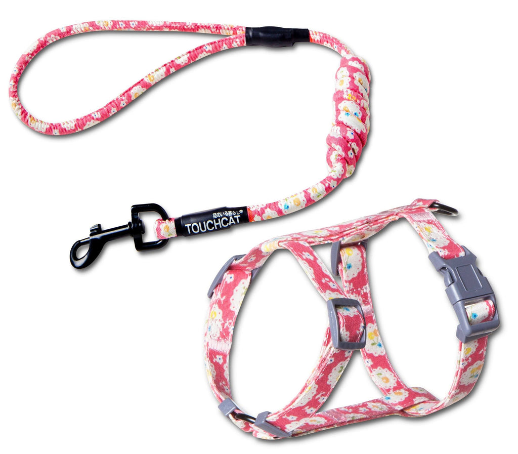 Touchcat 'Radi-Claw' Durable Cable Cat Harness and Leash Combo Small Pink