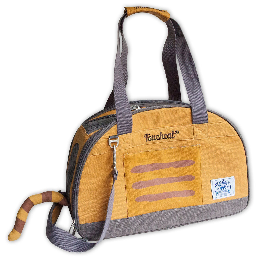Touchcat 'Tote-Tails' Designer Airline Approved Collapsible Cat Carrier Yellow