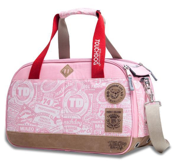 Touchdog Airline Approved Around-The-Globe Passport Designer Pet Carrier Pink