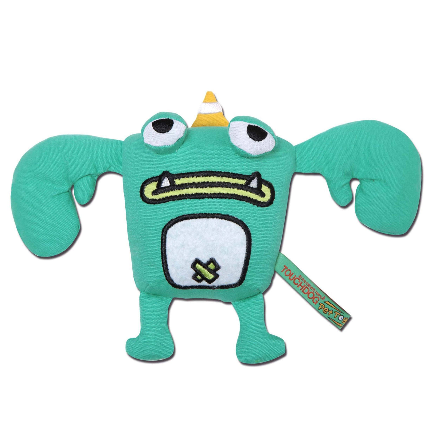 Tooth monster plush dog toy