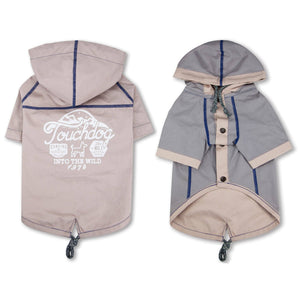Touchdog 'Cloudburst' Reversible Fashion Waterproof Dog Raincoat
