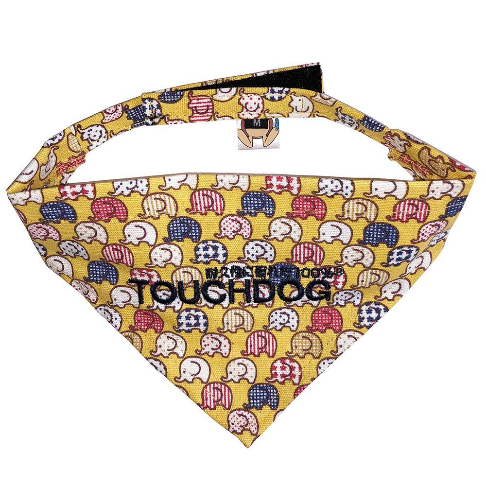 Touchdog Designer Velcro Bandana - Yellow Small