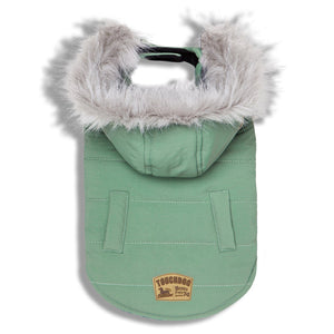 Touchdog 'Eskimo-Swag' Duck-Down Parka Dog Coat X-Small Mint Green