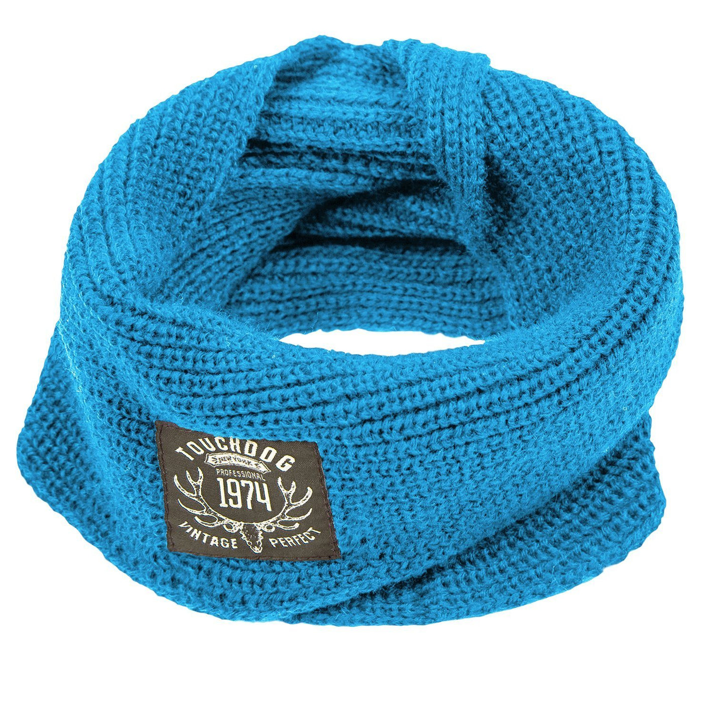 Knitted winter dog scarf