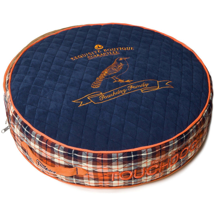 Touchdog ® 'Bark-Royale' Quilted and Raised Premium Rounded Designer Dog Bed