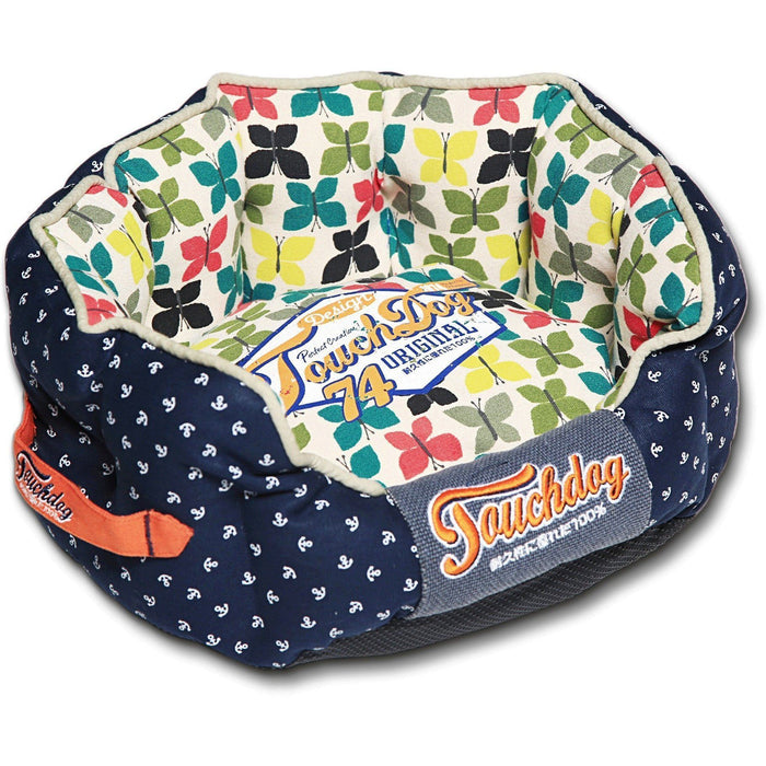 Touchdog ® 'Chirpin-Avery' Rounded Premium Designer Dog Bed