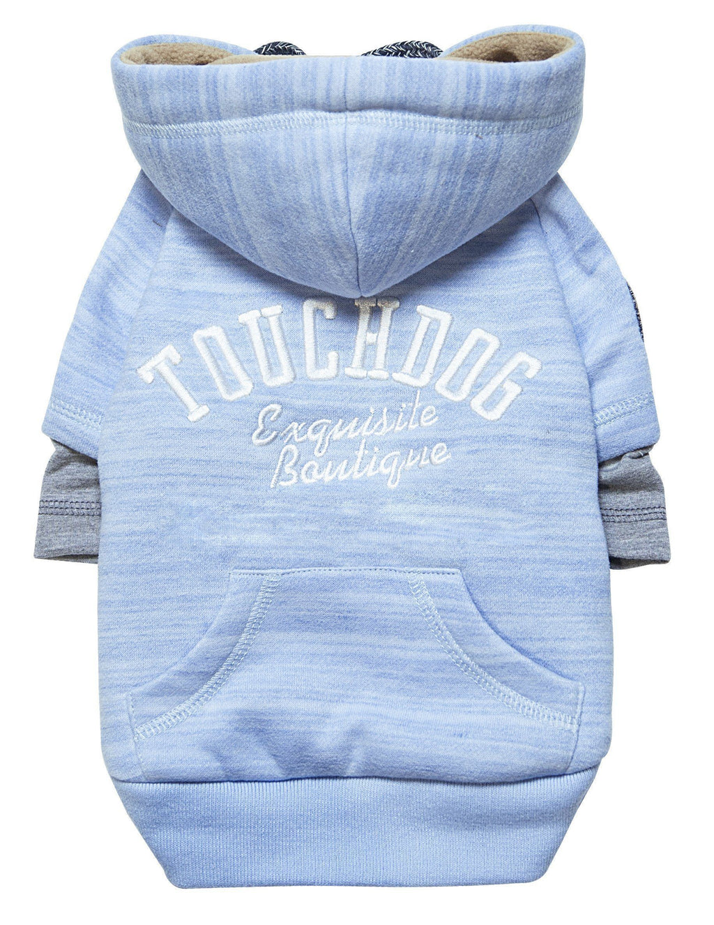 Touchdog ® Hampton Beach Ultra-Soft Blasted Cotton Hooded Dog Sweater X-Small Blue