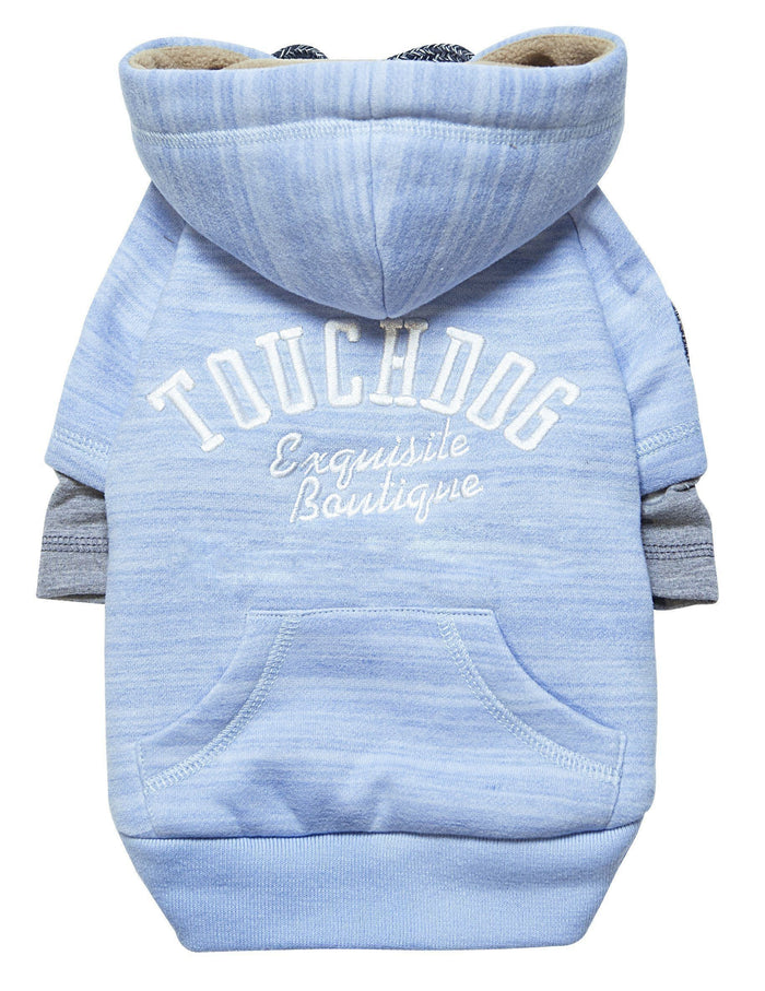 Touchdog ® Hampton Beach Ultra-Soft Blasted Cotton Hooded Dog Sweater
