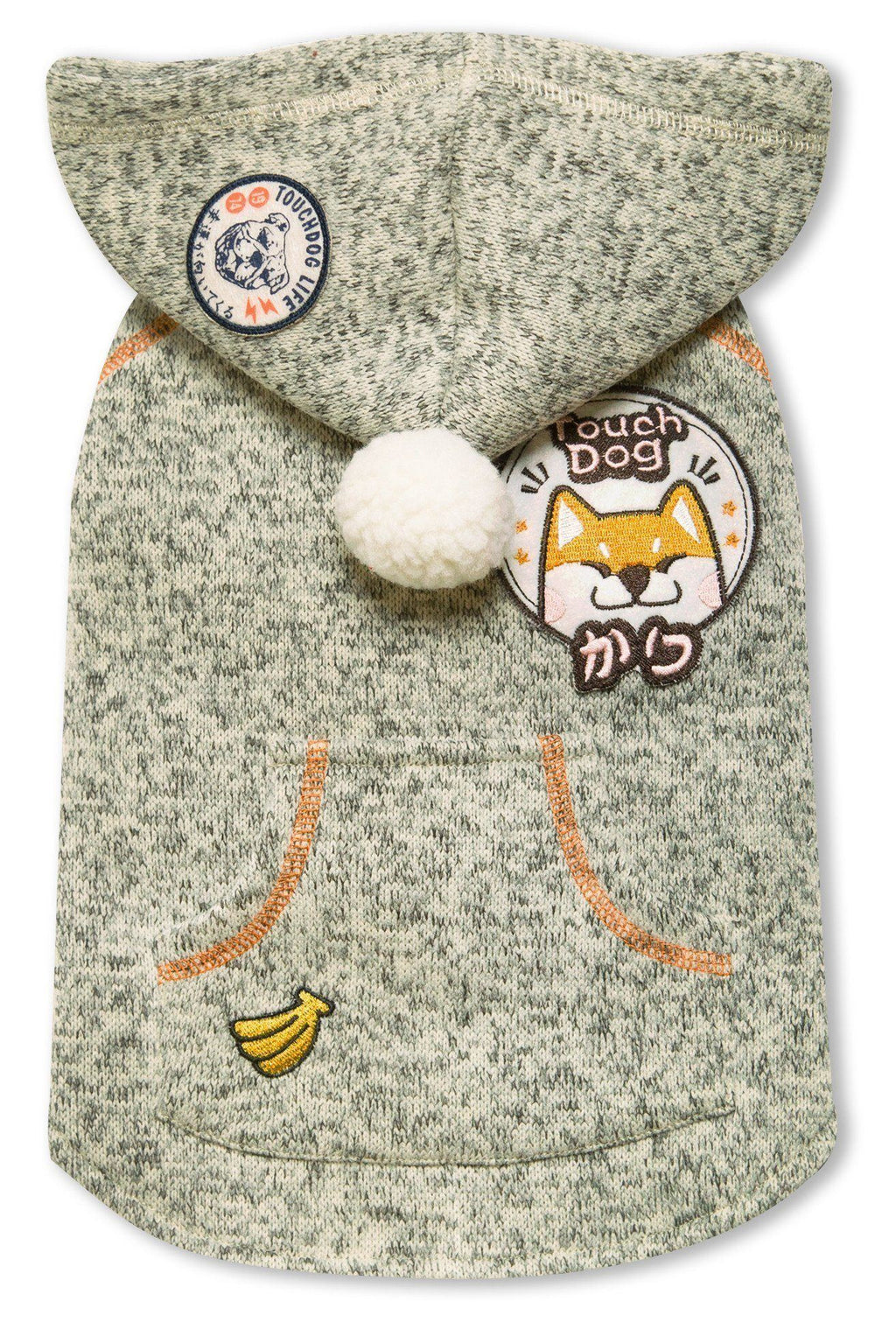Touchdog ® Hippie Embellished Sleeveless Pompom Hooded Fashion Dog Sweater X-Small Oliv...