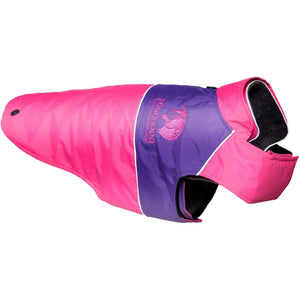 Touchdog ® Lightening-Shield 2-in-1 Dual-Removable-Layered Waterproof Dog Jacket X-Small Pink, Purple