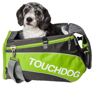 Touchdog ® 'Modern-Glide' Airline Approved Water-Resistant Sporty Travel Fashion Pet Dog Carrier Lime Yellow Green