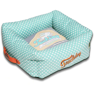 Touchdog ® 'Polka-Striped' Designer Premium Squared Dog Bed