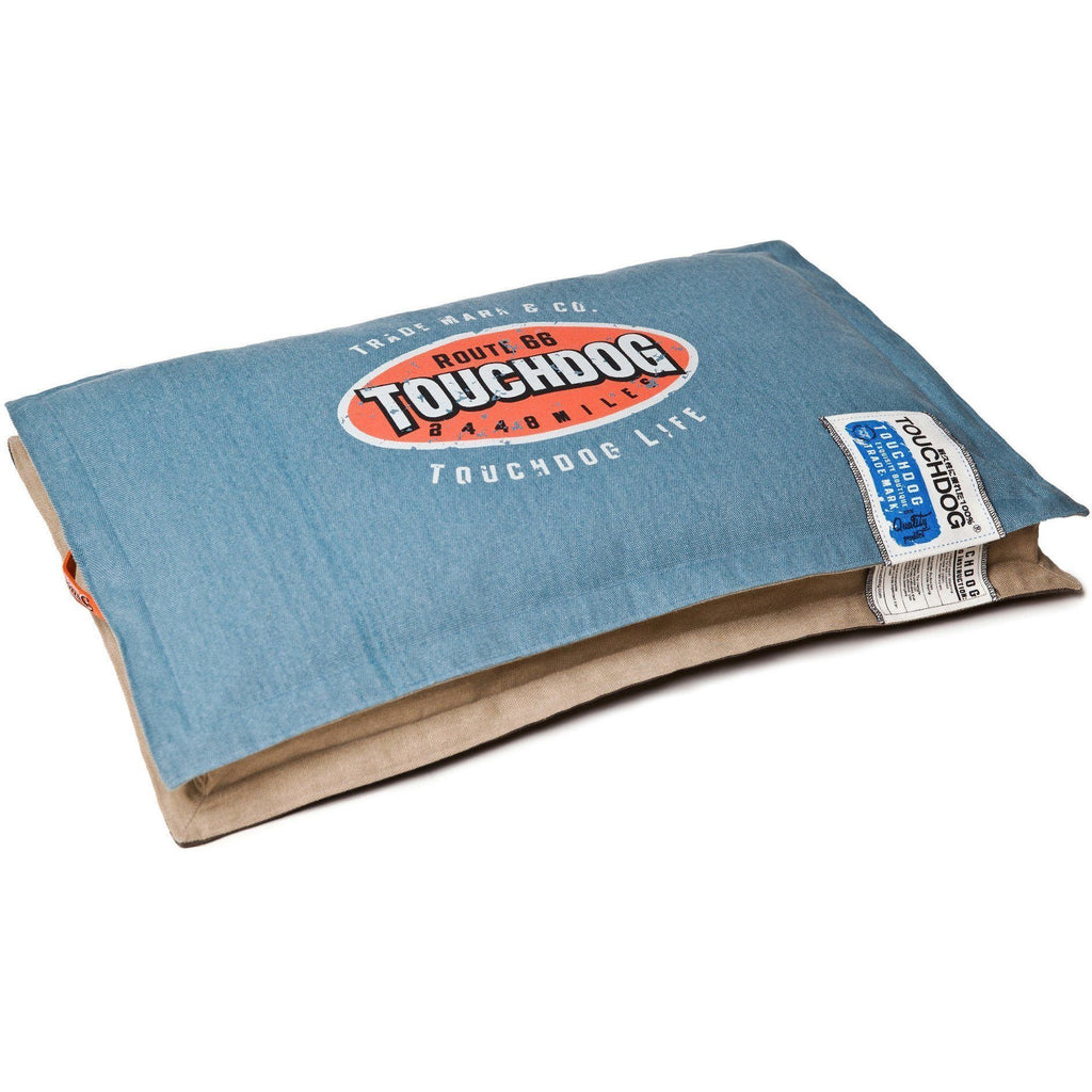 Touchdog ® 'Shock-Stitched' Sporty Reversible Rectangular Ultra-Thick Dog Mat Bed Large...