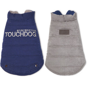 Touchdog ® Waggin Swag Ultra-Plush Insulated and Reversible Dog Coat