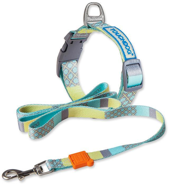 Touchdog ®'Trendzy' 2-in-1 Matching Fashion Designer Printed Dog Leash and Collar Blue ...
