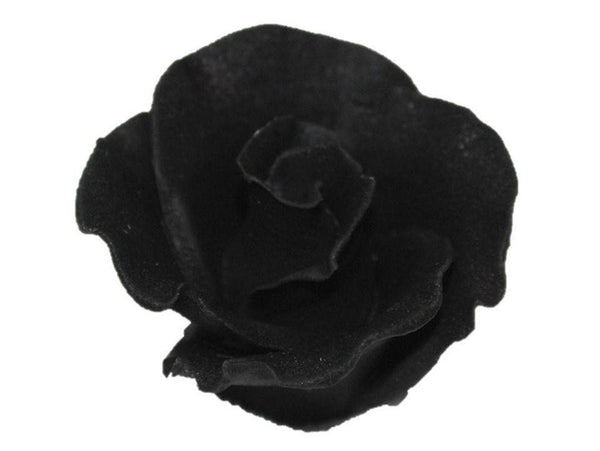 "Formal Rose BLACK Flower 2"" - Set of 3 Gum Paste"