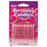 Pink Camo Birthday Candles