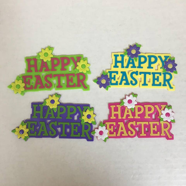 """Happy Easter"" Floral Cake Topper"