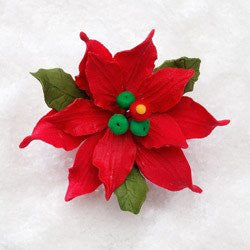 "2.5"" Poinsettia Gumpaste- Small"
