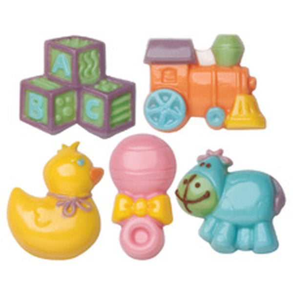 Wilton Baby Chocolate Mold  - FREE USA SHIPPING Duck Rattle Train Blocks
