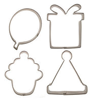 CUTIE CUPCAKE BIRTHDAY COOKIE CUTTER SET 4