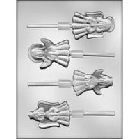 "2-7/8"" ANGEL CHOCOLATE LOLLIPOP MOLD"